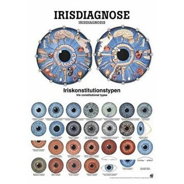 Irisdiagnose tysk og engelsk