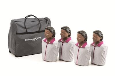 4 pak Little Anne QCPR mørk hudfarve