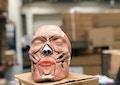 Komplet og særlig pædagogisk kraniemodel med 38 aftagelige tygge- og ansigtsmuskler