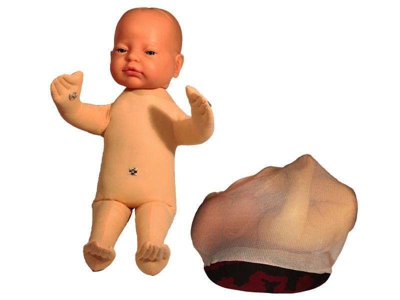 Fosterdukke med placenta og navlestreng