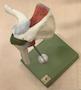 Skuldermodel med slimsække, ledkapslen, ledbånd og en muskelsene