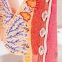 Model af kvindeligt bryst med raskt og sygt væv
