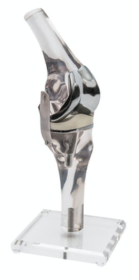 Model af knæ med endoprotese