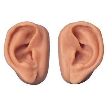 2 stk. akupunkturøre i SKINlike (tm) silicone i normalstørrelse