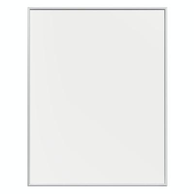 Plakatramme med kanter i mat sølv aluminium