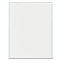 Plakatramme med kanter i mat sølv aluminium (kan ophænges både stående & liggende)