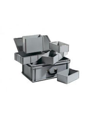 Opbevaringskasse med mange rum. Passer til knoglesættet med mest naturtro knogler. Mål: 41x63x19 cm